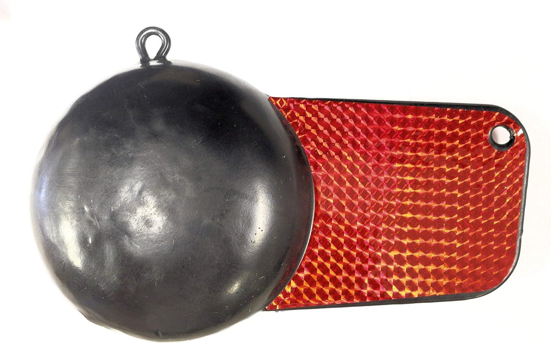 Black Pancake-Style Coated Downrigger Weight Fishing Trolling 10 LBS