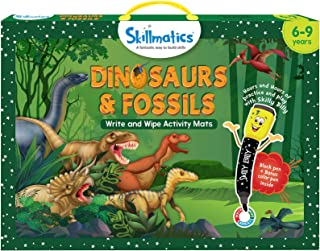 Skillmatics Educational Game: Dinosaurs and Fossils (6-9 Years) | Fun Learning Activities for Kids | Write and Wipe Activi...