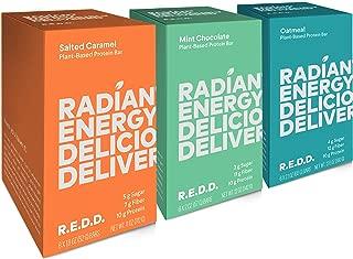 REDD - 18 Bar Variety Pack (Alternate) - Plant Based Protein Bar - 6 Mint Chocolate, 6 Oatmeal, 6 Salted Caramel - Gluten Free, Vegan, Low Sugar, High Fiber, Probiotics