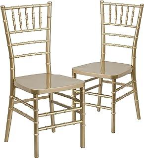 Flash Furniture 2 Pk. HERCULES PREMIUM Series Gold Resin...
