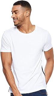 Hombre Camiseta de Jersey, Blanco