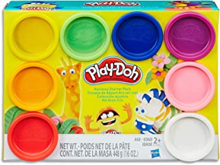 Play-Doh - Rainbow Starter Pack inc 8 Tubs of Dough - Creative Kids Toys - Ages 2+