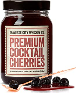 Premium Cocktail Cherries for Cocktails and Desserts | All American, Natural, Certified Kosher, Stemless, Slow-Cooked Garn...
