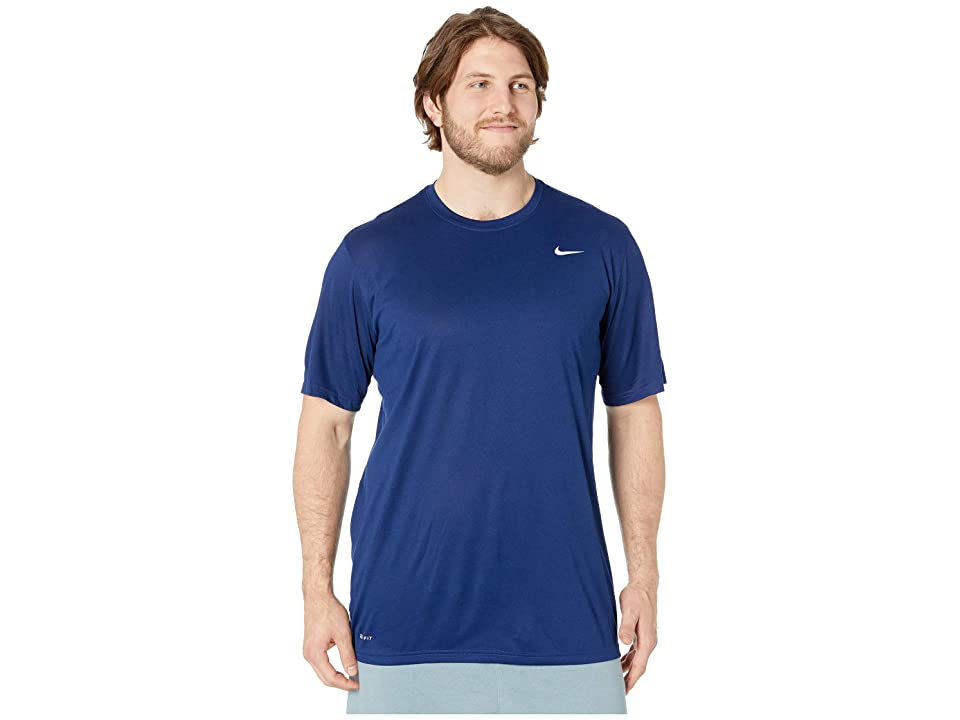 918436fa Nike Big Tall Legend 2.0 Short Sleeve Tee (Blue Void/White) Men
