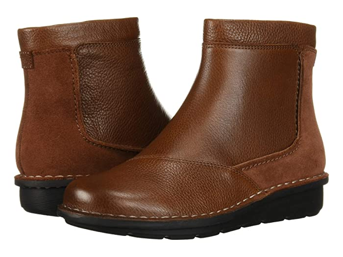 Clarks  Michela Petal (Mahogany Leather/Suede Combi) Womens  Boots