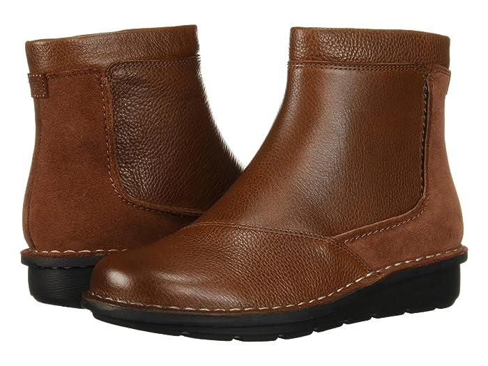 Clarks  Michela Petal (Mahogany Leather/Suede Combi) Womens  Boots