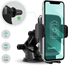 DORENITA Wireless Car Charger Mount: 10W Qi Fast Charging Auto-Clamping Car Mount Air Vent Phone Holder Compatible:iPhone 11/11 Pro/11 Pro Max/X/XS Max/Xs/XR/8/8+,Samsung Galaxy S10/S10+/S9/S9+/S8/S8+