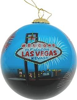 Hand Painted Glass Christmas Ornament - Las Vegas Fireworks