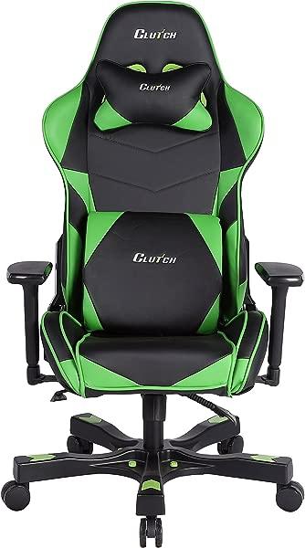 Clutch Chairz Crank Series Charlie Gaming Chair Black Green