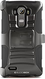 BUDDIBOX LG G4 Case, [HSeries] Heavy Duty Swivel Belt Clip Holster with Kickstand Maximal..
