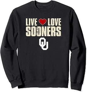 Oklahoma Sooners Live Love Sooners - University Sweatshirt