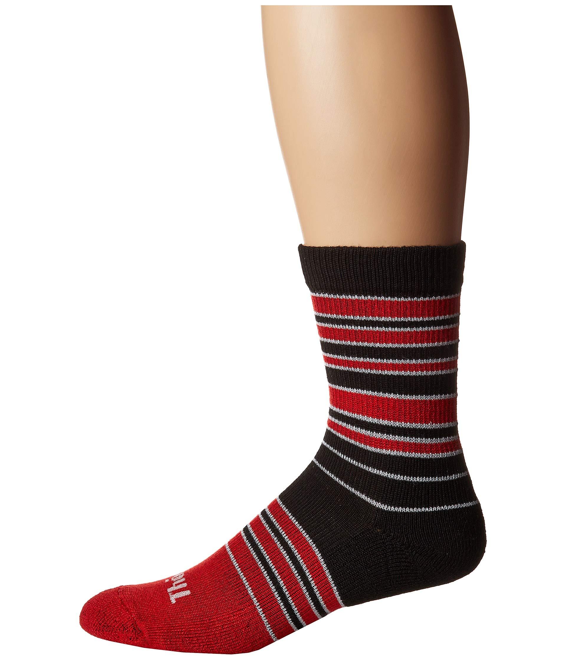 Thin Stripes Thorlo Thorlos Cushion Red black Single Pair Crew EzFqS5w