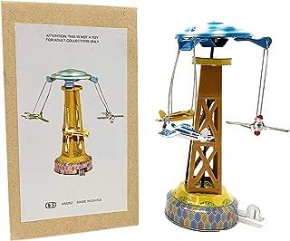 Off the Wall Toys Collectible Tin ToyTin Plane Carousel - Merry-Go-Round