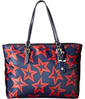 Tommy Hilfiger Julia Star Nylon Tote Large Dome Backpack