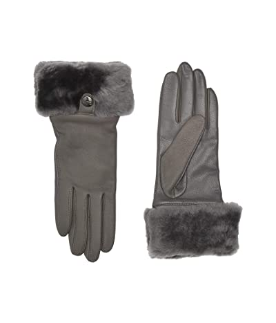UGG Sheepskin Cuff Tech Leather Gloves (Charcoal) Extreme Cold Weather Gloves