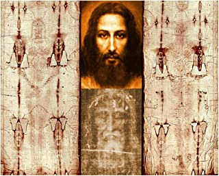 Hispanic World The Shroud of Turin Mandylion Sudarium Holy Face Jesus Christ (8x10)