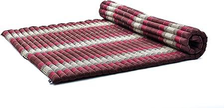 Leewadee Oprolbare Vloermat XL - Comfortabele en Oprolbare Thaise Matras, Grote Massagemat Gevuld met Eco-Vriendelijke Kap...