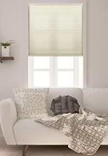 """Arlo Blinds Single Cell Light Filtering Cordless Cellular Shades, Color: Cream, Size: 30"""" W x 48"""" H"""
