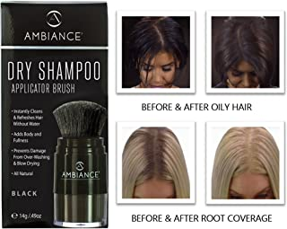 Ambiance Dry Shampoo (Black)-Refreshes, Conceals Roots & Volumizes. Absorbs Oil to Clean Hair, Boosting Body & Shine. Covers Roots Between Colorings. Adds Fullness to All Hair Types.