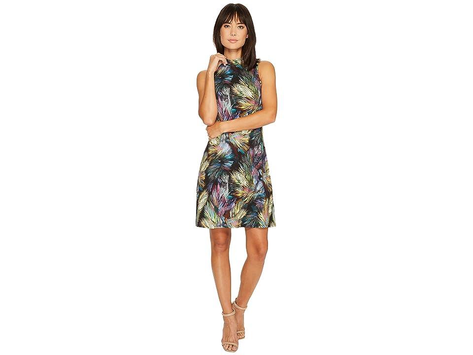 Karen Kane Sleeveless Mock Neck Dress (Print) Women