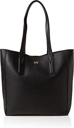 edd63d11757c Michael Kors Junie Large Pebbled Leather Tote Bag, Black, for Women