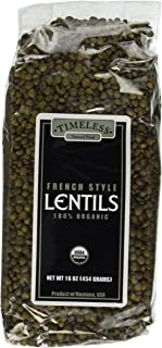 Certified 100% Organic French Style Lentils Montana Pack of 2 454 g 16 oz each