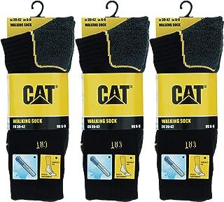 Caterpillar, 3 Pares de calcetines de trabajo CAT, resistentes, Coolmax, adecuados para todo tipo de clima, hilados de poliéster de excelente calidad