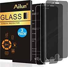 AILUN Privacy Screen Protector Compatible with iPhone 8 7 6 6s 3Pack Anti-Spy Anti-Glare 2.5D Edge Tempered Glass Compatible with iPhone 8 7 6 6s Anti-Scratch Case Friendly Siania Retail Package