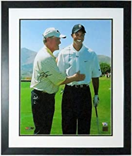 Jack Nicklaus Signed 16x20 Photo with Tiger Woods - Fanatics COA Authenticated - Custom Framed