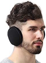 Ear Muffs for Men & Women - Winter Ear Warmers/Covers for Cold Weather - Behind the Head Style Black Fleece Earmuffs