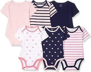 Girls' Baby 6-Pack Short-Sleeve Bodysuit
