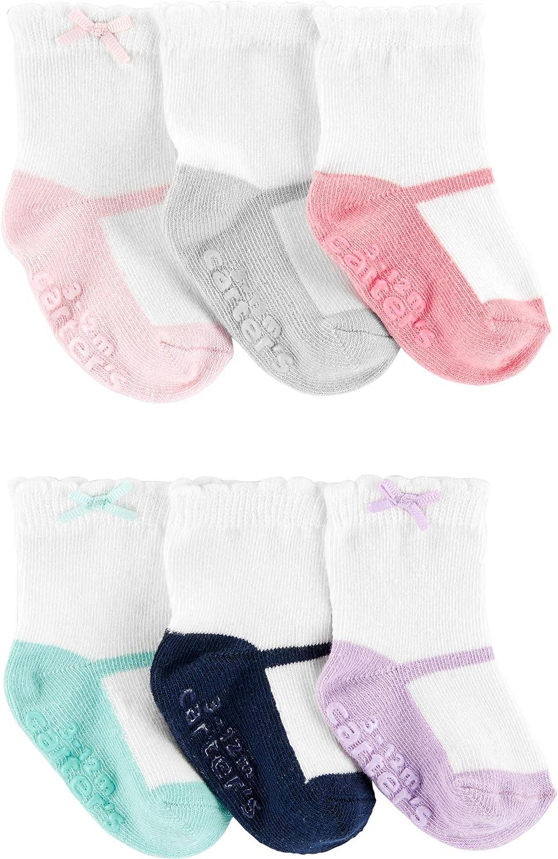 Carter's Baby Girls' 6-Pack Socks Booties