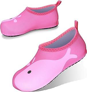 JOTO Water Shoes Chaussons Aquatiques Enfant, Chaussures de Plage de Mer de Piscine Sandales Plastiques Anti Sable Antidér...