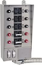 Reliance Controls Corporation 51410C Pro/Tran 10-Circuit Indoor Transfer Switch for Generators Up to 12,500 Running Watts