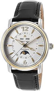 Maurice Lacroix Mp6347-Ys101-92E Men's Masterpiece Auto Black Croco Silver-Tone Dial Ss 18K Gold Bezel Watch