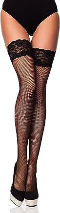 Merry Style Damen Halterlose Netzstrümpfe Brio
