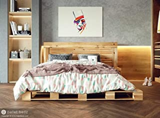 Queen Size Pallet Bed for The Modern and Natural Home. 100% Hand-Crafted in The USA.