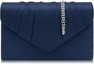 Women Evening Bag Velvet Pleated Clutch Purse Envelope Clutches