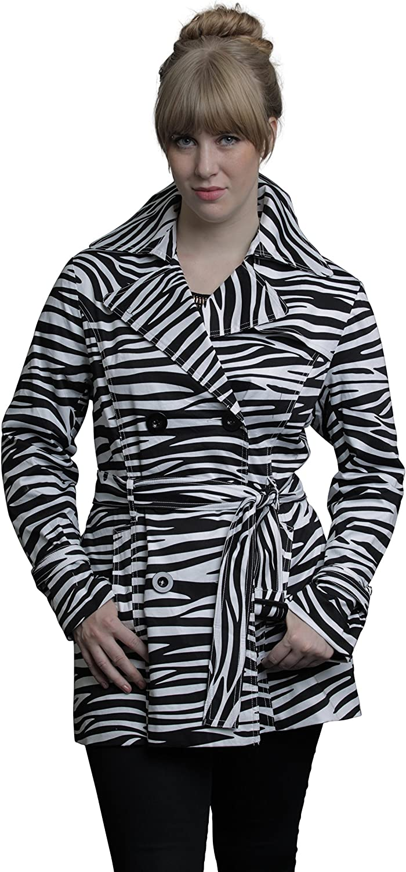 Outerwear By Lisa Max 80% Bargain sale OFF Women's Coat Zebra Trench