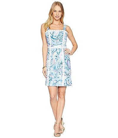Lilly Pulitzer Janelle Ponte Shift Dress (Blue Peri Pinch Pinch) Women