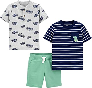 Boys' 3-Piece Button Up, Shorts, and Tee Playwear Set