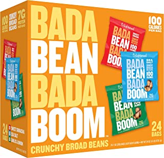 Enlightened Bada Bean Bada Boom Plant-based Protein, Gluten Free, Vegan, Non-GMO, Soy Free, Kosher, Roasted Broad Fava Bean Snacks, The Savory Box Variety Pack, 1 Ounce (24 Count)