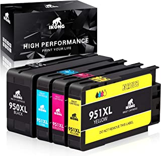IKONG Compatible Ink Cartridge Replacement for HP 950XL 951XL 950 951 Ink Cartridge Works with HP OfficeJet Pro 8600 8610 8620 8100 8630 8660 8640 8615 8625 276DW 251DW 271DW