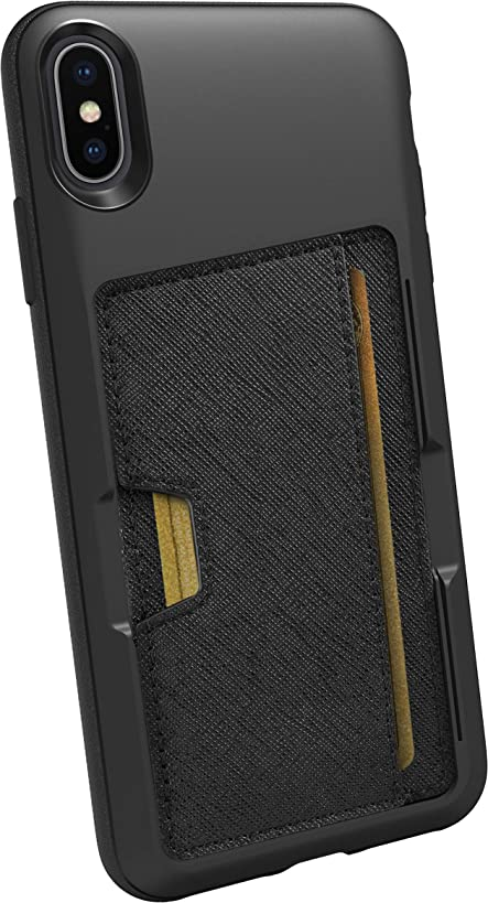 Silk iPhone Xs Max Wallet Case - Wallet Slayer Vol. 2 [Slim Protective Kickstand] Credit Card Holder for Apple iPhone 10S Max - Black Tie Affair