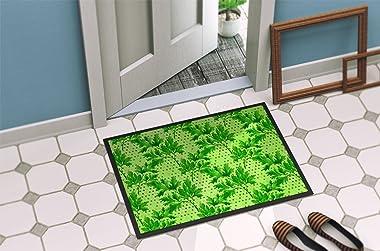 """Caroline's Treasures Watercolor Parsley Indoor or Outdoor Doormat, 24"""" H x 36"""" W, Multicolor"""