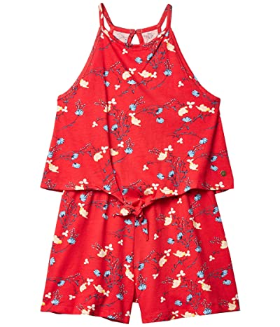 Roxy Kids Cocktail Party Strappy Romper (Little Kids/Big Kids) (Lipstick Red Garden Walk Girl) Girl