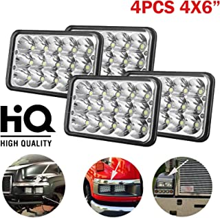 AVEC/¨ 4x6 OFF ROAD SEALED BEAM LED HEADLIGHTS REPLACEMENT CONVERSION PAIR Peterbilt Kenworth FREIGHTLINER Headlamp Projector lens Replace HID Xenon Headlights bulbs H4651 H4652 H4656 H4666 H65454