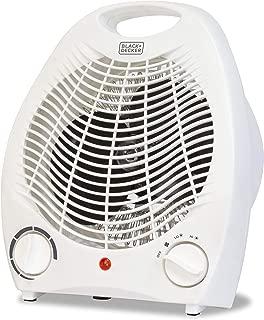 BLACK+DECKER BHD101W 1,500-Watt Personal Desktop Heater (White), 8.4 x 5.2 x 10 Inches