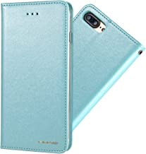 iPhone and Galaxy Case PU Leather Magnetic Adsorption Card iPhone 6/7/8/X+Galaxy S8/S9