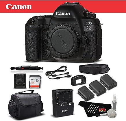 $2258 Get Canon EOS 5D Mark IV Full Frame Digital SLR Camera Body Bundle 32GB, Extra Batteries, More International Version